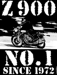 Print TShirt black Z 900 No1 since 1972