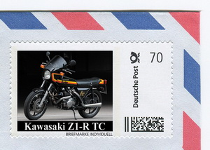 Kawasaki Z1-R Limited Edition stamp