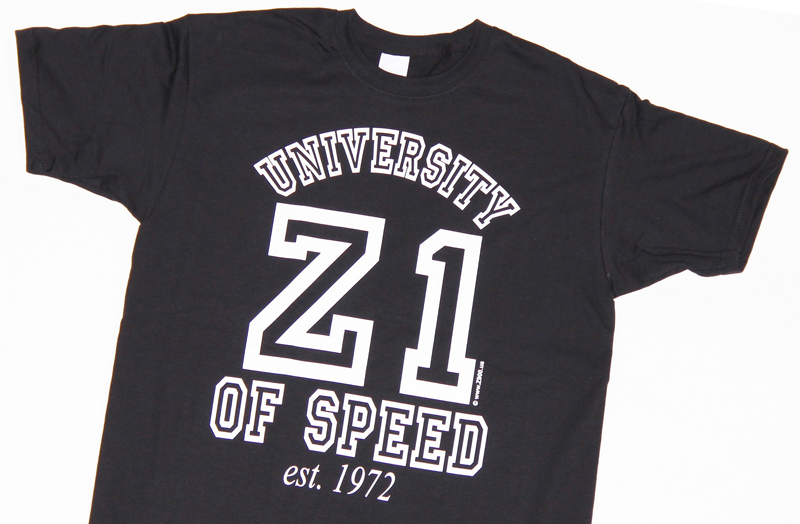 NEW! The Z1 UNIVERSITY OF SPEED t-shirt