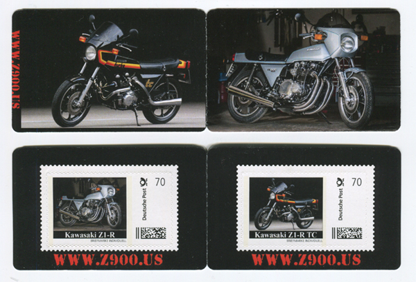 Kawasaki Z1-R Limited Edition stamp set